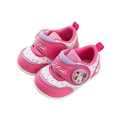 迪士尼童鞋 米妮 魔鬼氈電燈鞋-桃