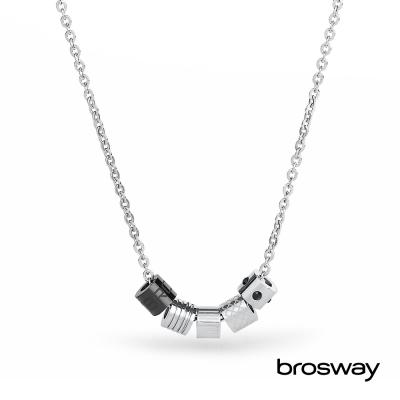 brosway Bullet 青銅水鑽 不鏽鋼項鍊