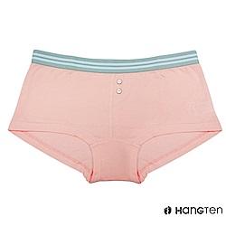 HANG TEN  舒適包臀素色平口內褲_粉紅(HT-C22001)