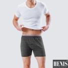 HENIS 4件組時尚型男彩紋針織平口褲 隨機取色