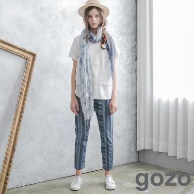 gozo-特色條紋創意口袋造型褲-共2色