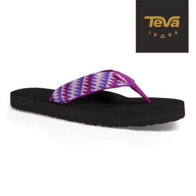 TEVA 美國 女 MUSH 經典織帶夾腳拖 (亮紫色)