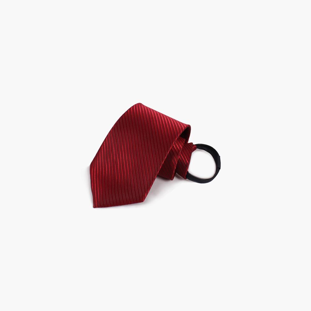 拉福   斜紋領帶6cm寬版領帶拉鍊領帶 (酒紅)