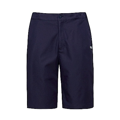 FILA 男平織短褲-丈青1SHS-1426-NV