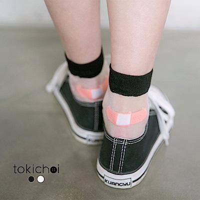 東京著衣 透膚OK蹦設計長襪(共二色)