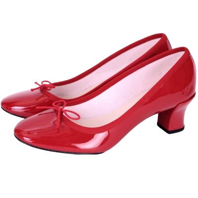 Repetto CLARA 漆皮蝴蝶結低跟鞋(紅色)
