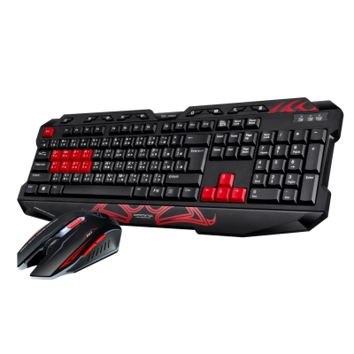 T.C.STAR USB有線電競鍵鼠組/紅色 (KIT9900RD)