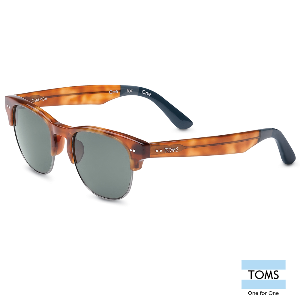 TOMS LOBAMBA 極致典雅琥珀色半框款太陽眼鏡-中性款 (S007-037-03)