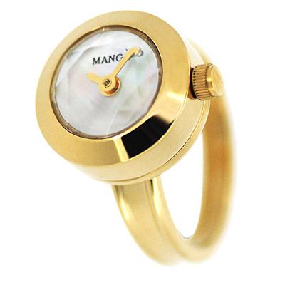 MANGO   星光閃爍淑女戒指錶-MA1004A-81K/15mm