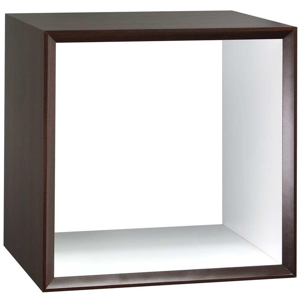魔術方塊30系統收納櫃/鏤空櫃-胡桃色