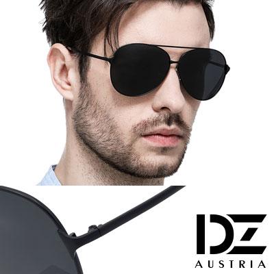 【2件59折】DZ 飛官焦點 抗UV 偏光太陽眼鏡墨鏡(黑框灰片)