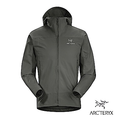 Arcteryx 男 Tenquille 防風連帽軟殼外套 機長灰