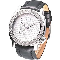 MARC ECKO 優質型男時尚晶鑽腕錶-銀/46mm