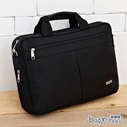 DF【Bag school 】科技時尚多功能防水多夾層筆電側背包