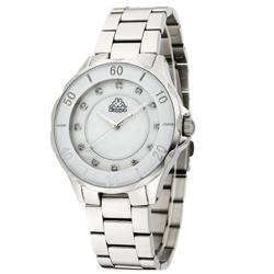 Kappa 經典華麗不鏽鋼時尚腕錶-白x銀/40mm