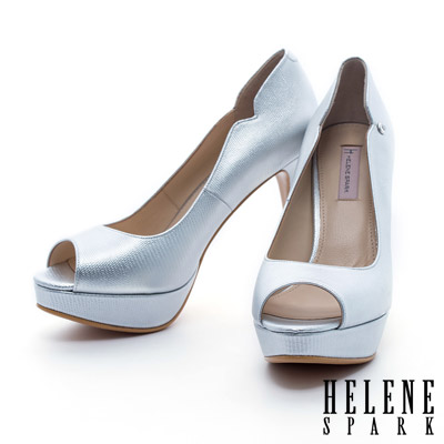 HELENE-SPARK-經典優雅美型羊皮魚口高跟