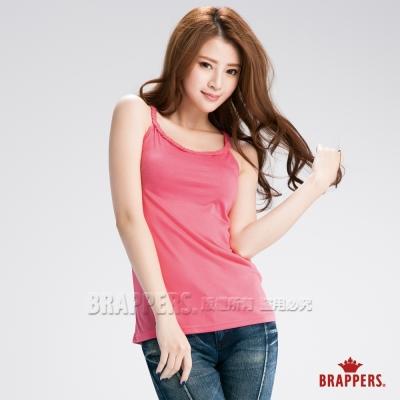 BRAPPERS 女款 女用編織細肩帶背心-桃紅