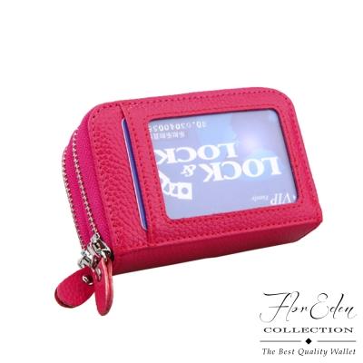 DF-Flor-Eden皮夾-經典雙拉鍊牛皮款多卡夾零錢包-共4色