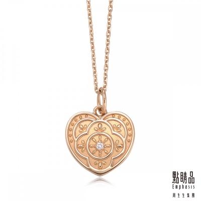 點睛品 Emphasis V&A-18KR 玫瑰金 鑽石項鍊