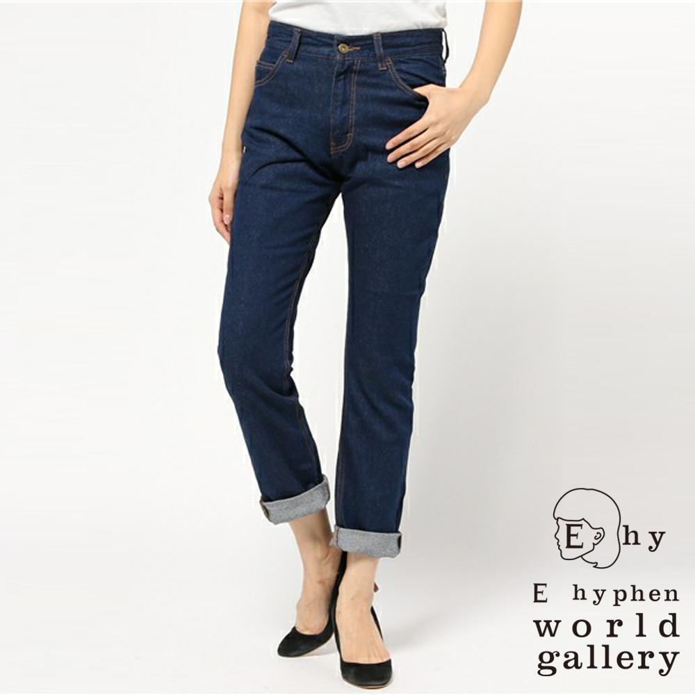 E hyphen 定番仿舊感直筒牛仔褲