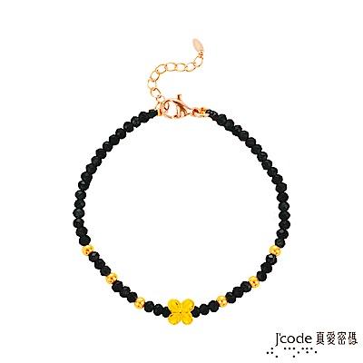 J'code真愛密碼 小花美人黃金/尖晶石手鍊-單鍊款