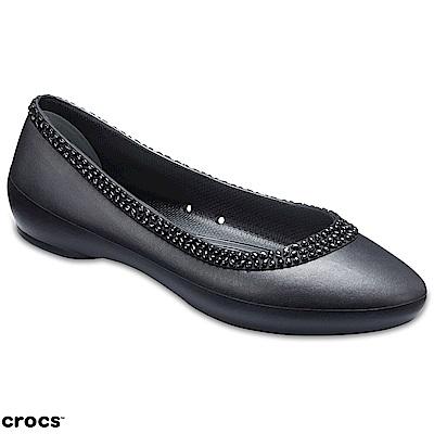Crocs 卡駱馳 (女鞋) 女士莉娜平底鞋 204898-001