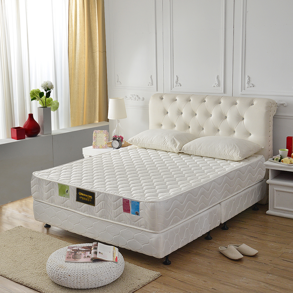 MG珍寶-頂級加厚抗菌防潑水-護邊獨立筒床墊-單人3.5尺