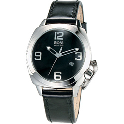 HUGO BOSS 新創造型時尚皮帶女錶(LMA/6776A)-黑/35mm