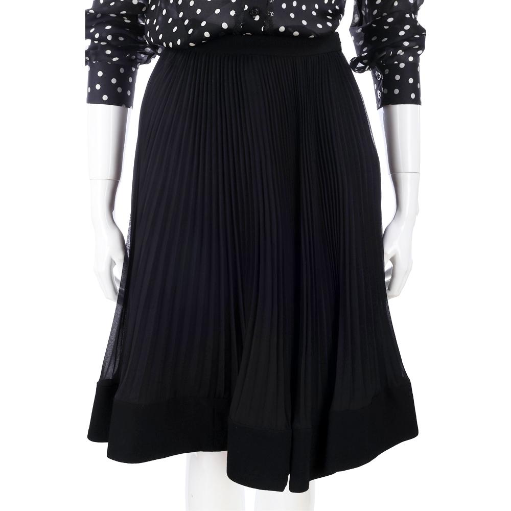PHILOSOPHY 黑色百褶設計及膝裙