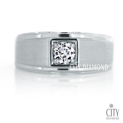 City Diamond『古典藍調』32分H&A鑽戒(男)