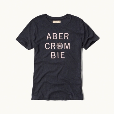 AF a&f Abercrombie & Fitch 女T恤 藍色 0004