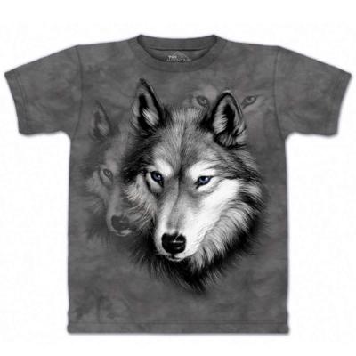 摩達客 美國進口The Mountain 野狼像 純棉環保短袖T恤