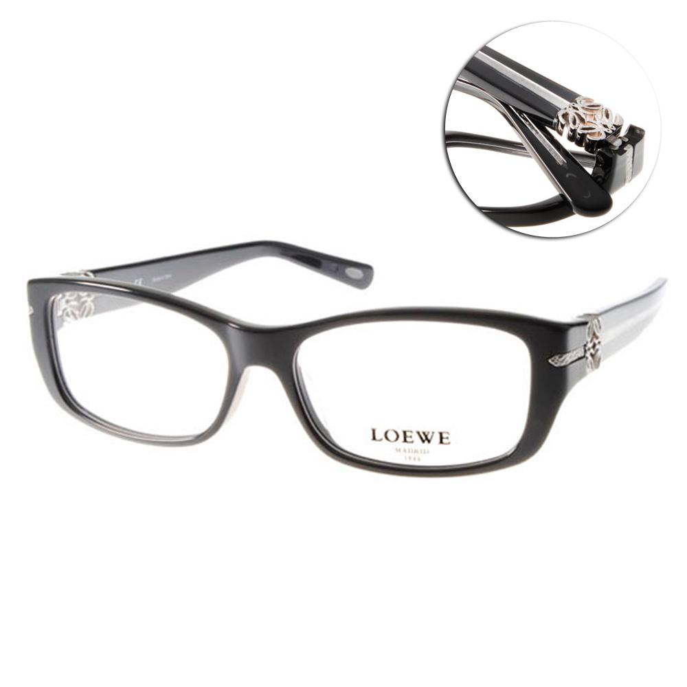 LOEWE眼鏡 別緻LOGO款/黑#LW876 C0700