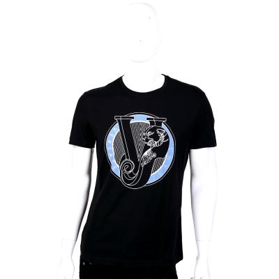 VERSACE 黑色圓形Logo圖騰短袖T恤
