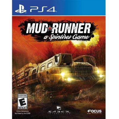 旋轉輪胎:泥濘奔馳 Spintires: MudRunner - PS4 英文美版
