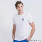 GIORDANO 男裝BOB 小熊騎車純棉短袖TEE-01 標誌白