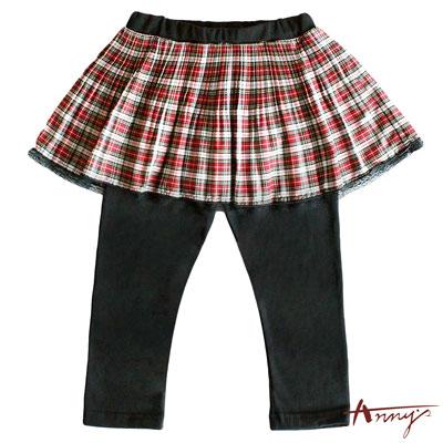Annys經典蘇格蘭飄逸清透褲裙*6378紅