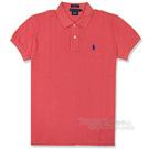 Ralph Lauren 經典LOGO 寬版POLO女衫(珊瑚紅)