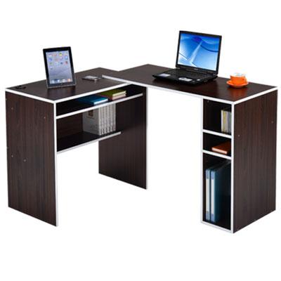邏爵家具 伸縮轉角電腦桌/書桌/L型桌
