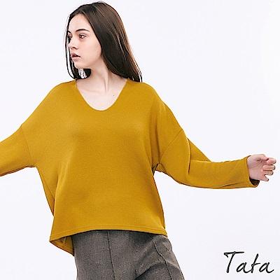 V領針織上衣 共三色 TATA