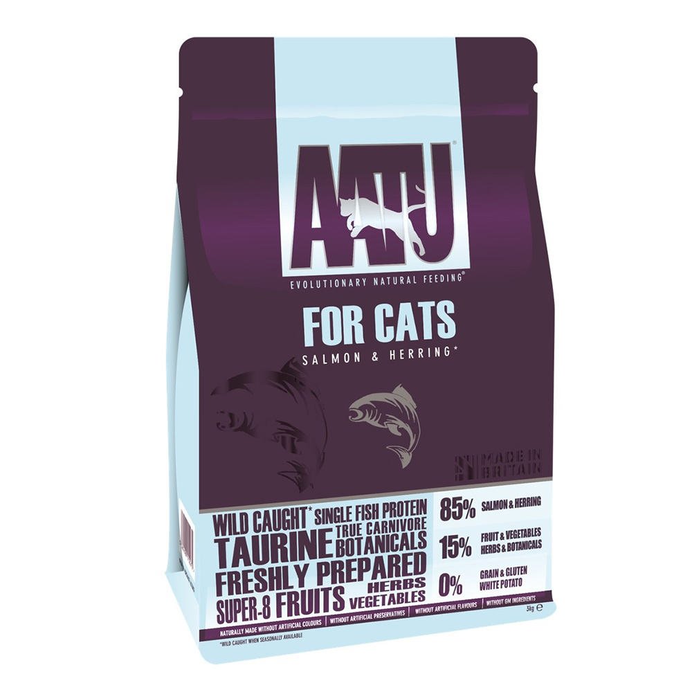 AATU 奧圖  皇室85%鮭魚+鯡魚 低敏無穀挑嘴全齡貓糧 200g