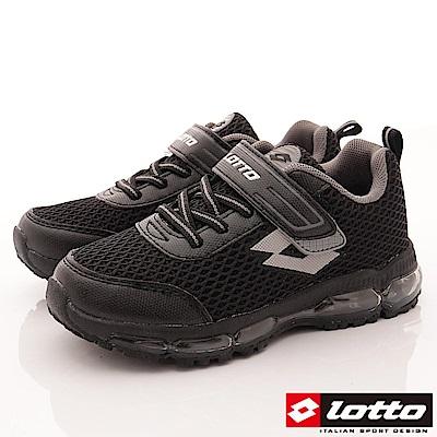 Lotto義大利運動鞋 輕量氣墊避震款 RSI550黑 (中大童段)