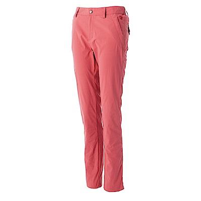 【Wildland 荒野】女彈性透氣抗UV合身長褲紅