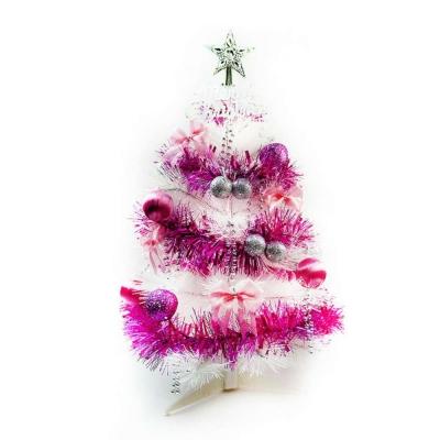 台製2尺(60cm)特級白色松針葉聖誕樹(粉紫色系配件)(不含燈)