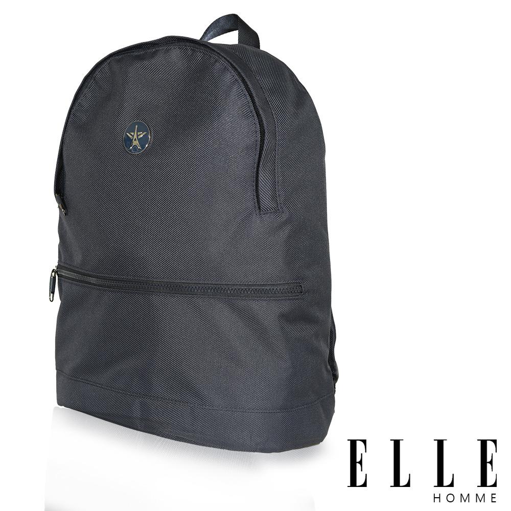 ELLE HOMME-巴黎風輕旅商務休閒多功能後背包-藍