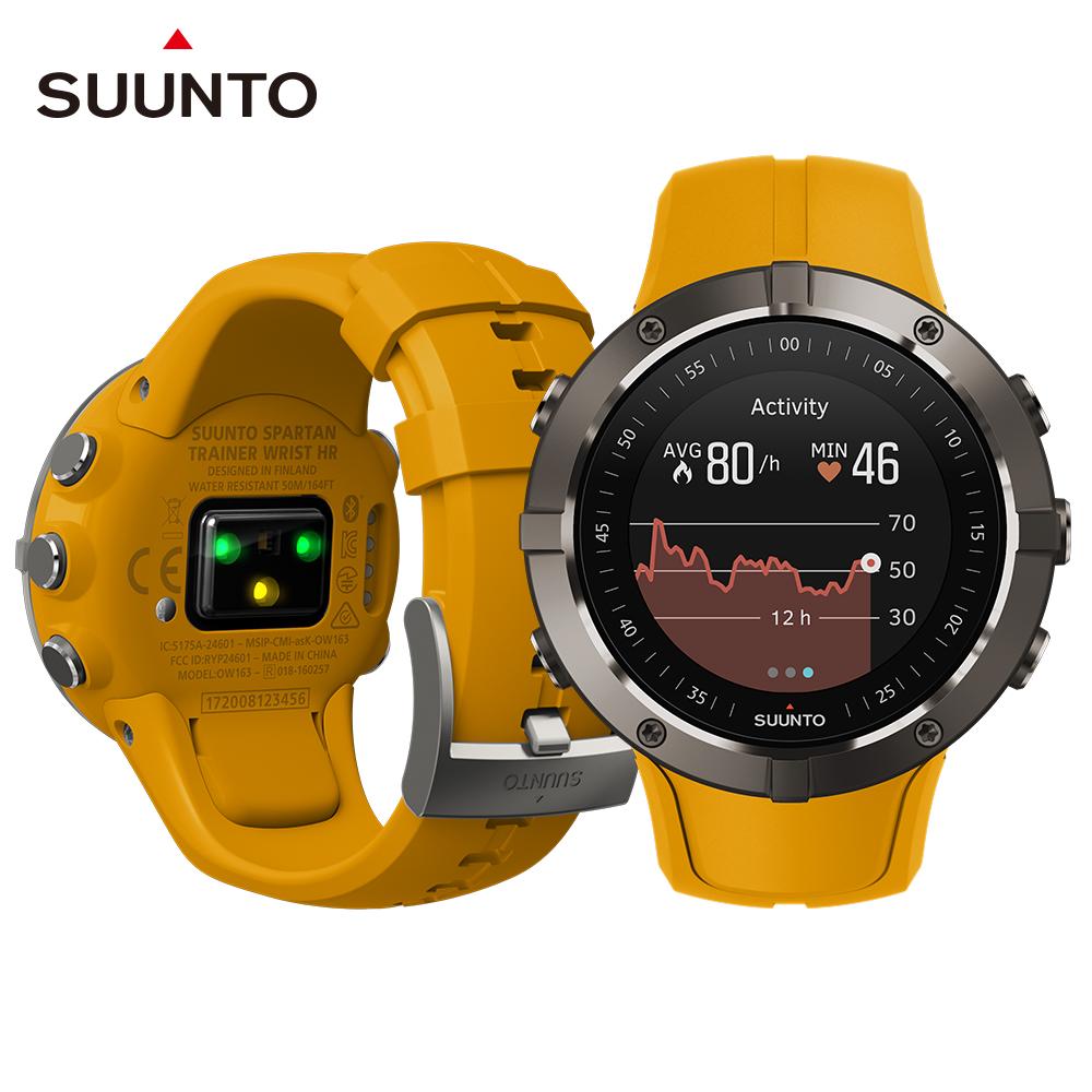 SuuntoSpartanTrainerWristHR全方位訓練的GPS運動腕錶-琥珀色