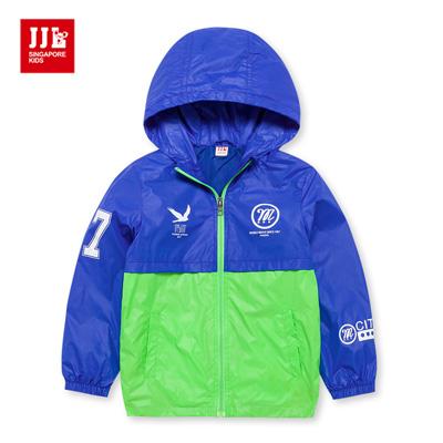 JJLKIDS 城市男孩拼接防風外套(彩藍)
