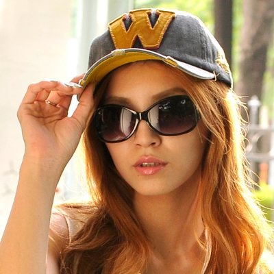 Aimee-Toff-休閒自我大W棒球帽-黑
