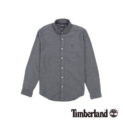 Timberland 男款黑色長袖BACK RIVER法蘭絨素色襯衫