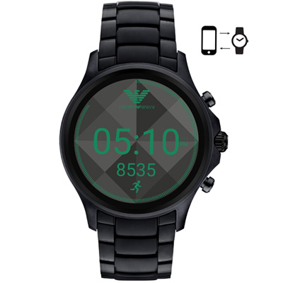 Emporio Armani亞曼尼 Connected觸控智能腕錶-46mm/黑色